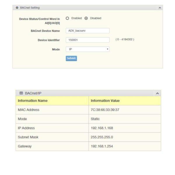 Passerelle Modbus Bacnet Configuration